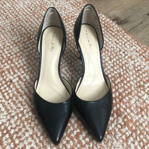 Worn once! Tahari Black Leather D'orsay Pumps